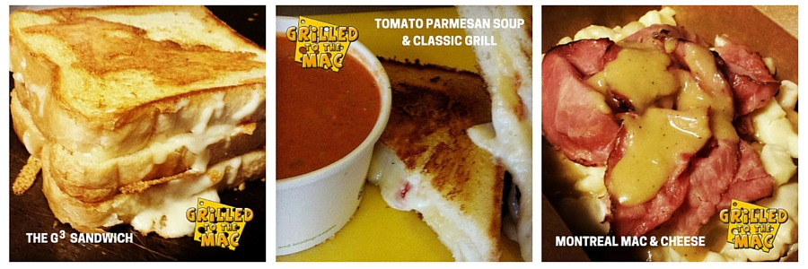 Grilled To The Mac - The G3 Sandwich, Tomato Parmesan Soup, Montreal Mac & Cheese